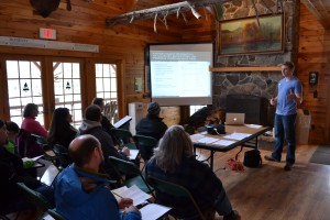 Conference at Camp Chingachgook on Lake George